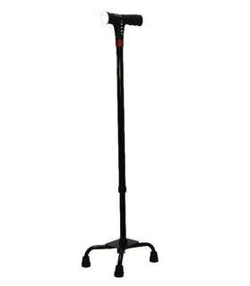 🚚 Smart Medium Quad Walking Stick With Auto Fall Alarm And MP3