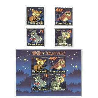 2003 13 Mint Stamps & MS  Night Creatures