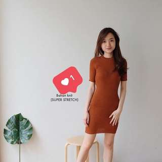 Dress Knit in Choco