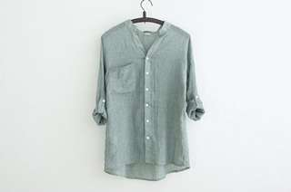 Green Tops Blouse Buy Two with shirt gets RM 65 & Free Postage #MidYearSale