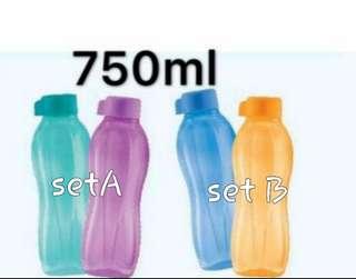 Tupperware Eco water bottles (2)750ml