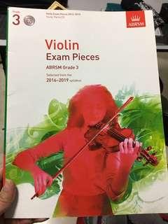 Grade 3 Violin Exam Pieces CD ABRSM