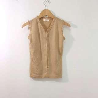 【專櫃品牌】Pro Five無袖針織上衣。