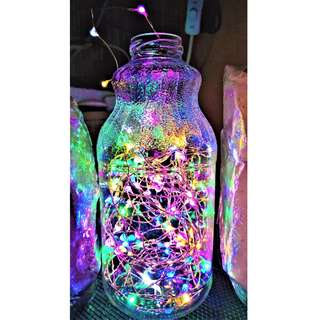 Colorful Led Glass Bottle