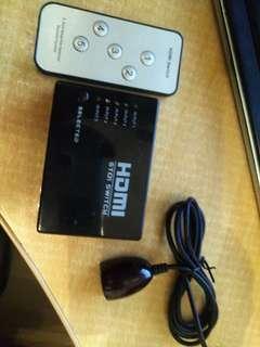 HDMI 1開5 連搖控。红外線延長線包平郵 或油塘交收