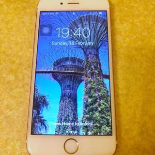 🈹️$2,500–>$2,000 iPhone 6s 64G Rose Gold (new battery)