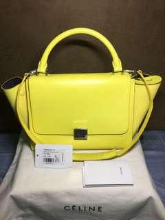 Authentic celine bag( removable strap) flou yellow