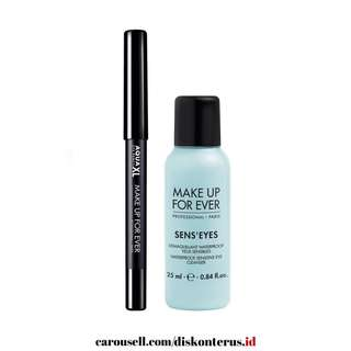 Make Up For Ever Eye Set ( Eyepencil Waterproof + Eye Makeup Remover )