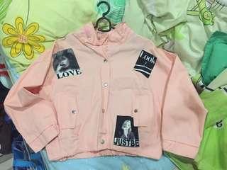 Korean Style Peach Jacket