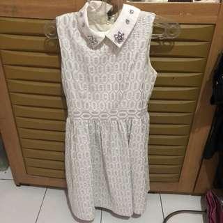 White silver dress by minimal
