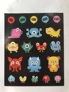 Mini Little Monster Stickers