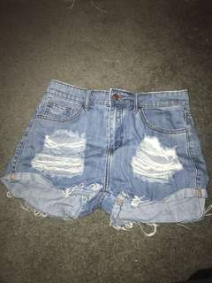 supre shorts size 10