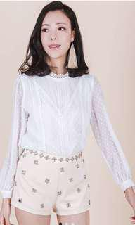 Ohvola Crotchet White TOP