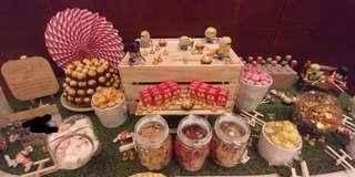 Candy bar set up