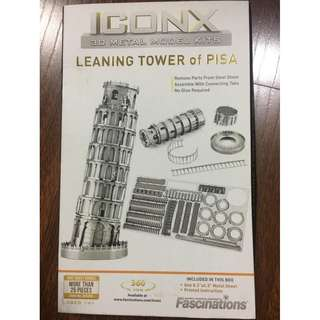 Iconx Leaning Tower of Pisa 3D Metal Model Kit figure design collectible display BNEW