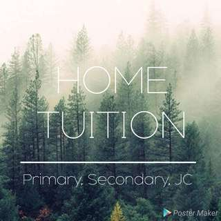 Home tuition.
