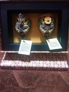 Indonesian Batik Ceramic Display Masks