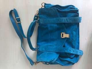 Proenza Schouler Blue Suede Bag