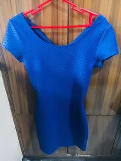 H&M Royal Blue Bodycon Dress