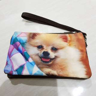 Pouch Doggie Printed Fabric