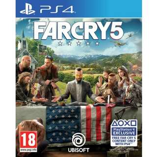 Playstation 4 PS4 Farcry 5