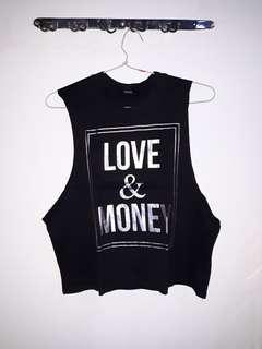Love & Money Muscle tee