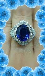 💍天然錫蘭藍寶6.256克拉尊榮女王鑽戒💍
