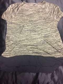 Khaki and mesh top