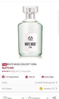 THE BODY SHOP WHITE MUSK L'EAU EDT 100ML ORIGINAL PROMO!!!
