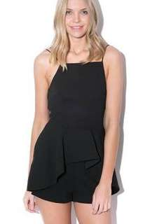 USED- Finders Keepers playsuit with peplum frill