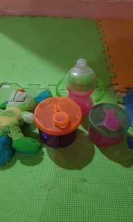 Milk dispenser and sippy cup for 0-24mos