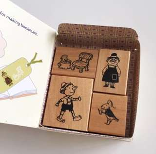 Pinocchio wood rubber stamps