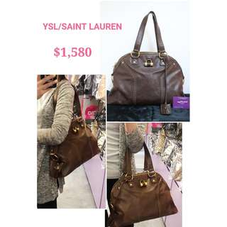 70% New YSL/ SAINT LAURENT 156464 Muse 啡色 牛皮 肩背袋 手袋 Muse Brown Calfskin Handbag 0