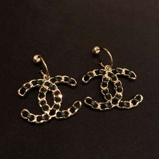 Chanel Chain Logo Earrings 皮鏈耳環