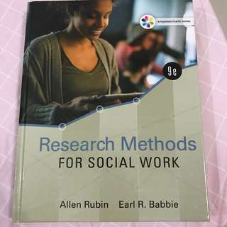 Research methods for social work (hard cover)