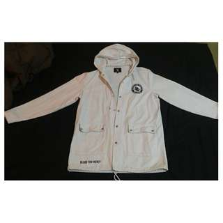 BLOOD FOR MERCY YELLOW CLAW PARKA WHITE