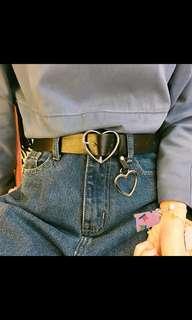 PREORDER Ulzzang Harajuku Heart Buckle Belt