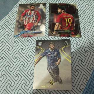 Diego Costa Panini/Topps trading cards for sale/trade (Lot of 3 cards)