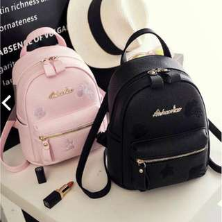 KOREAN FASHION EMBROIDERED BACKPACK