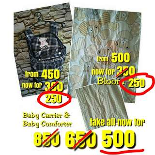 SET Baby Carrier and Baby Comforter only