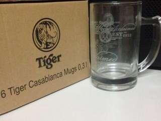 6x Tiger beer casablanca mug