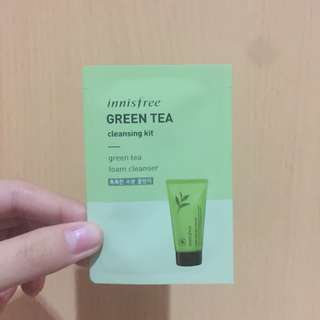 Innisfree Green Tea Cleansing Kit - Cleansing Foam - Trial Size
