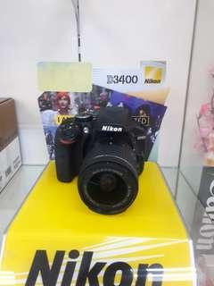 Kamera Nikon D3400 DSLR (Bisa Kredit MURAH)
