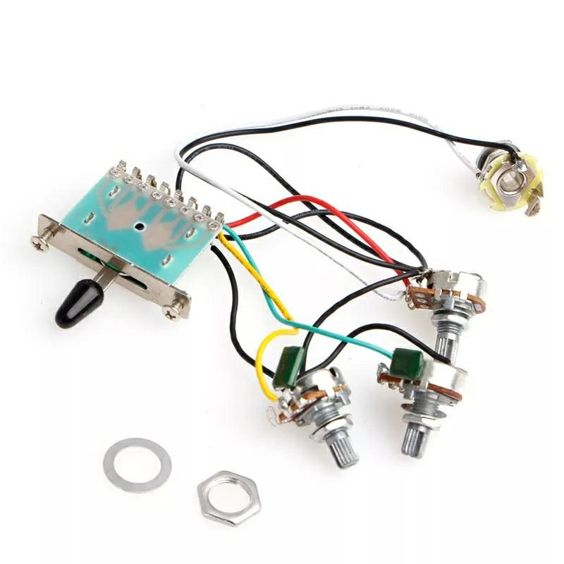 1 VOLUME 2 TONE POT WIRING HARNESS for strat stratocaster ... on