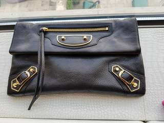 Balenciaga Metallic Edge Clutch (strap)