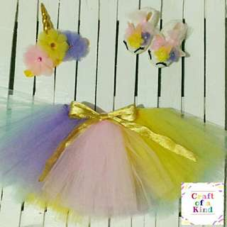 Unicorn tutu skirt set