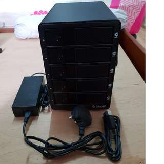 ORICO 9558RU3-BK 5-bay HDD Enclosure