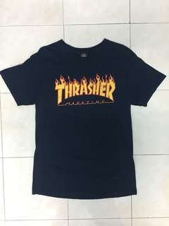 Thrasher Flame Tee (NAVY)
