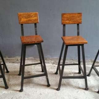 Square Stools: Natural Mango Wood