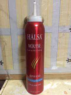 Halsa mousse for hair styling